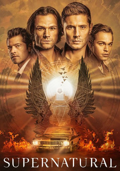 Farewell, SUPERNATURAL. This cool image will apparently be on the box cover of the Season 15 DVD set.
