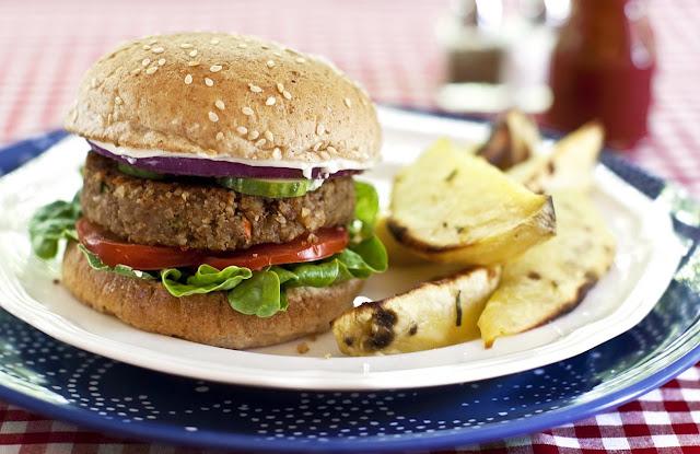 como fazer hamburguer de soja vegano