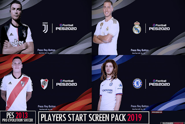 Players Start Screen Pack 2019 For PES 2013