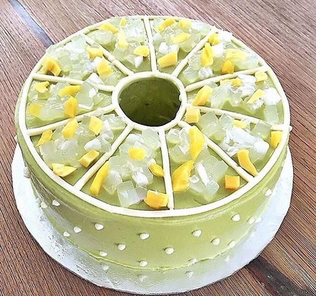 resep es teler cake, cara membuat es teler cake