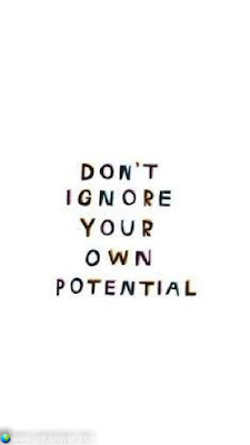 Don't   Ignore  Your Own  Potential..!!  #Inspirationalquotes #motivationalquotes  #quotes