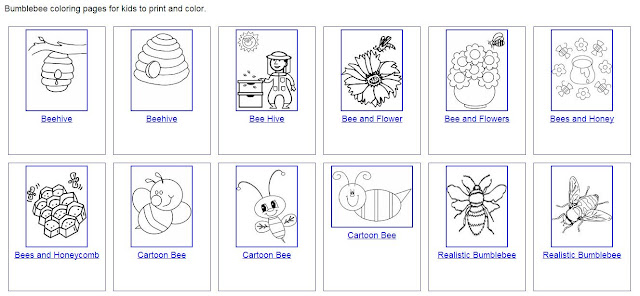 free bees coloring pages. Black Bedroom Furniture Sets. Home Design Ideas