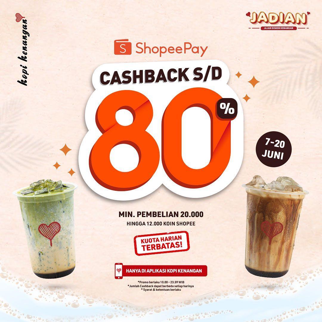 Promo Kopi Kenangan ShopeePay Cashback hingga 80%