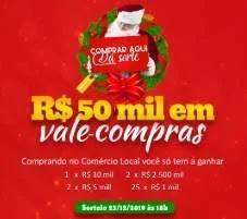 Promoção CDL Brusque Natal 2019 - 50 Mil Reais em Vale-Compras