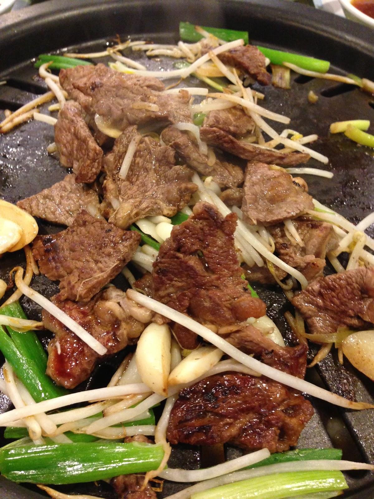 Enjoying Korean BBQ at Yellow Cow - LA Explorer