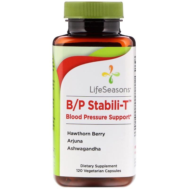 LifeSeasons, B/P Stabili-T, поддержка при кровяном давлении, 120 вегетарианских капсул