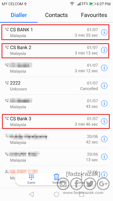 Telefon Bank Untuk Block Semua Kad ATM/Kad Kredit/Kad Debit
