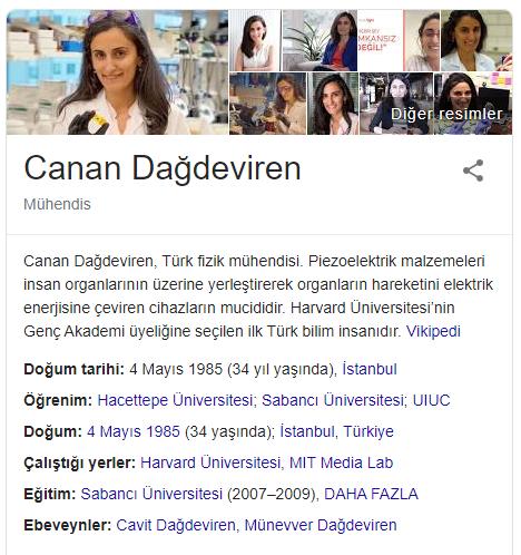 Türk Kadın Mucit Canan DAĞDEVİREN