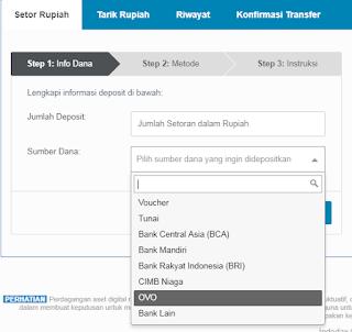 Cara Top Up Indodax Dengan OVO