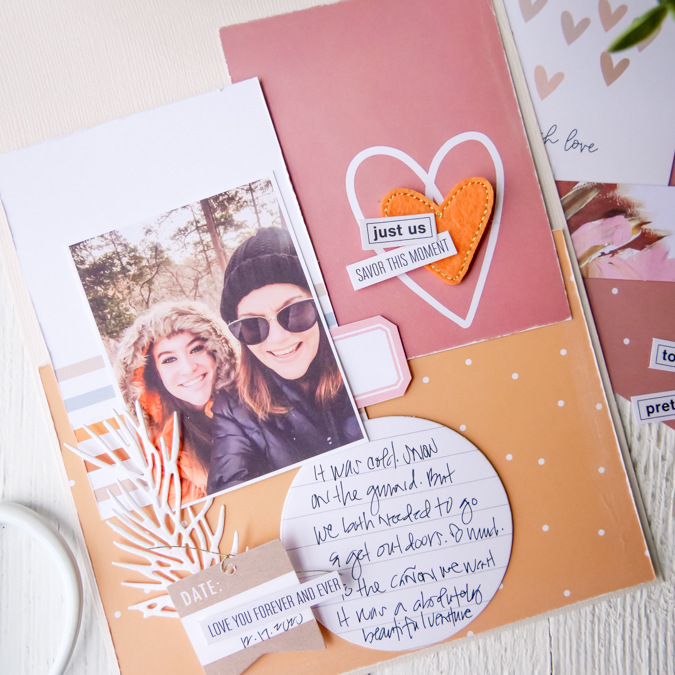 How to Make Simple Scrapbook Pages by Jamie Pate