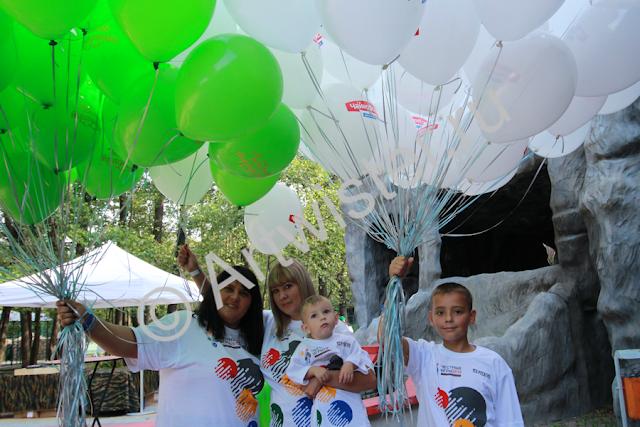 Воздушные шары с логотипом на корпоративно празднике РусАгро