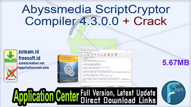 Abyssmedia ScriptCryptor Compiler 4.3.0.0 + Crack