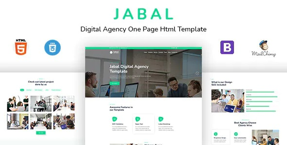 Best Digital Agency One Page HTML Template