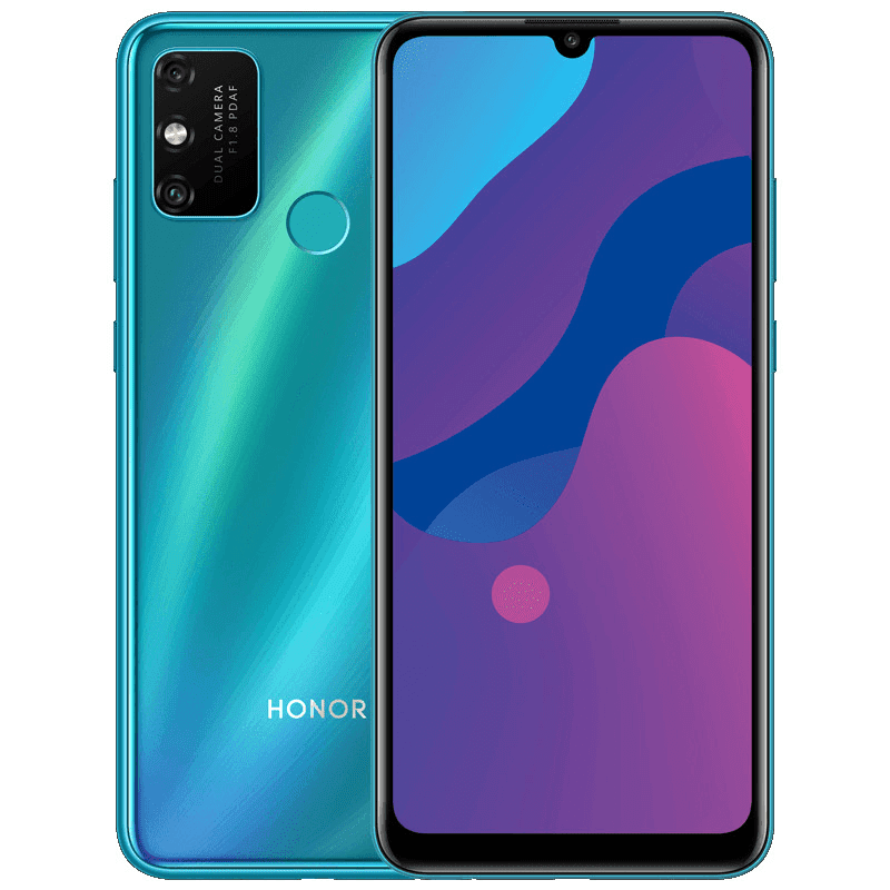 Its front and back design revealing the notch, screen, camera module, and the fingerprint reader
