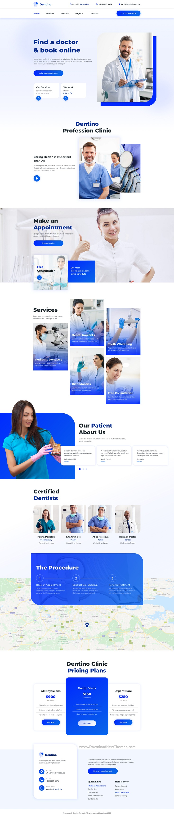 Dental Clinic Template for Sketch