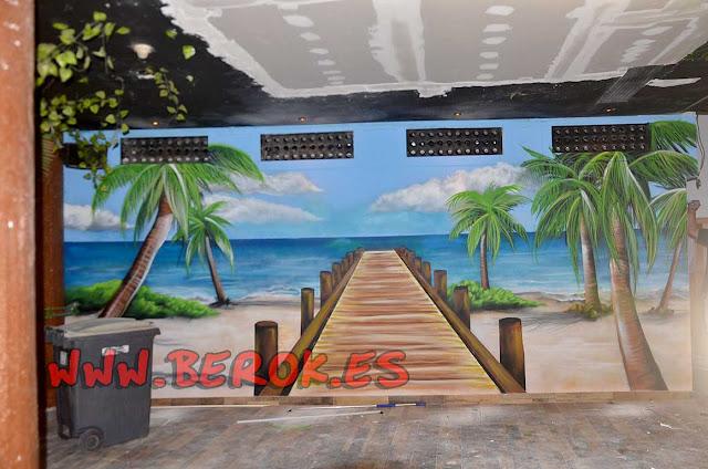 graffiti puente profundidad playa