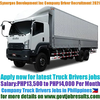 Synergos Construction and Development Inc Company Truck Driver Recruitment 2021-22