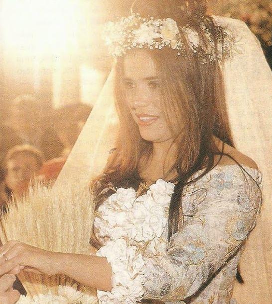 Vestido de noiva Ronaldo Esper, Mara Maravilha primeiro casamento