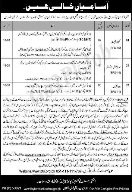 Commissioner Malakand Division Swat Jobs 2021