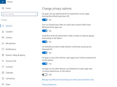 Windows 10 Privacy Setting