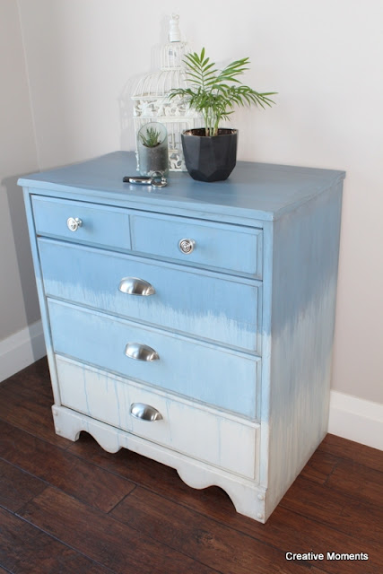 dresser makeover with cup pulls