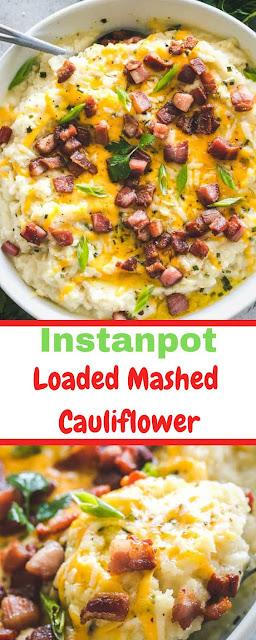 Instant Pot Loaded Mashed Cauliflower