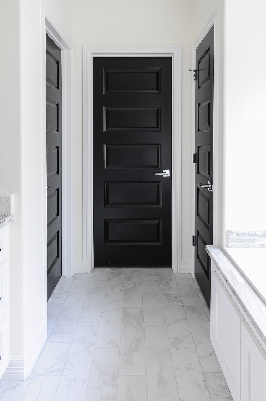 Black Interior Doors In A Gorgeous Satin Finish Look Sleek When Paired With  Minimal Decor And