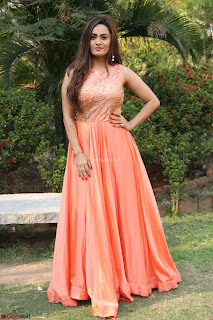 Actress Sakshi in beautiful orange Anarkali Dress Spicy Pics    040.jpg