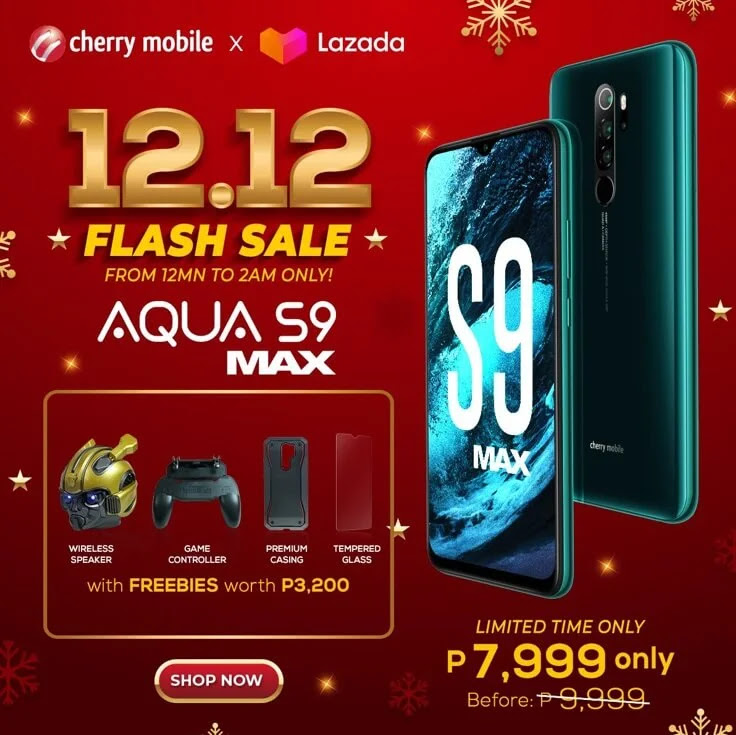 DEAL ALERT: Cherry Mobile Aqua S9 Max with Helio G90T, 48MP Quad Camera, 5,130mAh Battery on SALE this 12.12 for Only Php7,999
