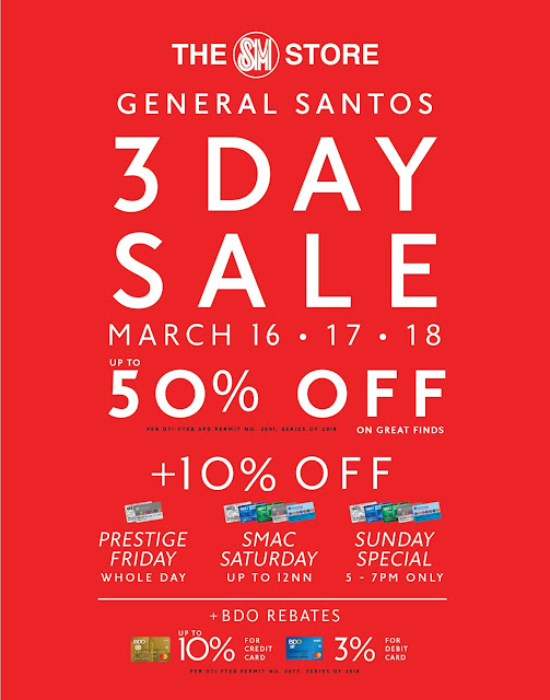 Chix & Tell: SM City General Santos brings the madness of 3 DAY Sale!