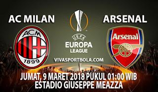 Prediksi Ac Milan vs Arsenal 9 Maret 2018