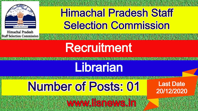 Librarian at Himachal Pradesh Staff Selection Commission