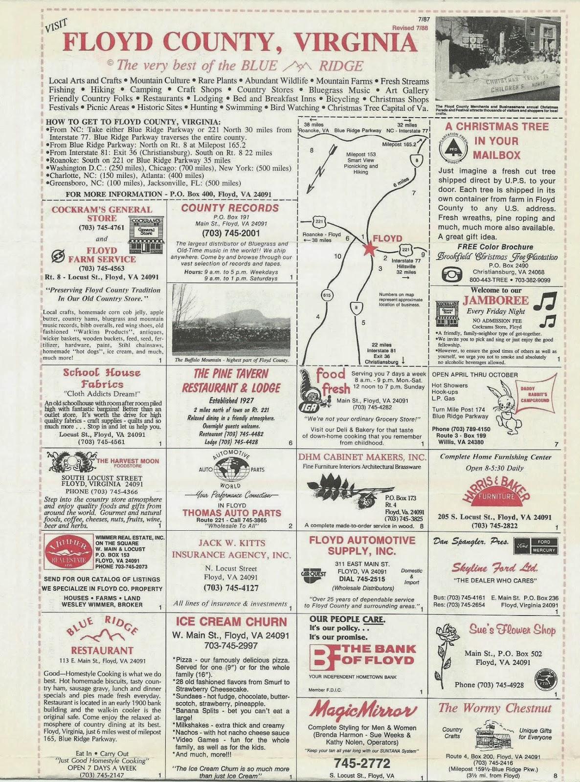 Floyd County VA brochure