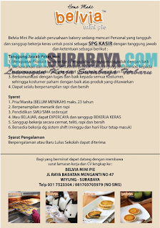 Karir Surabaya Terbaru di Belvia Mini Pie Juni 2019