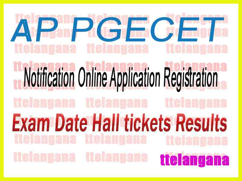 AP PGECET Andhra Pradesh State Council of Higher Education 2020 Notification Application Time Table