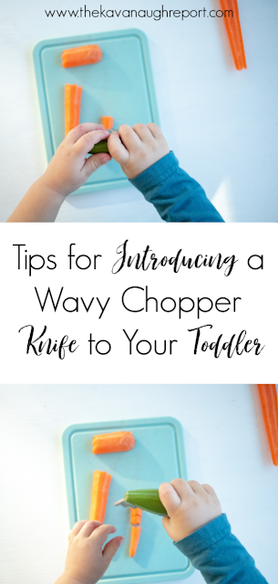 Here are some tips and tricks for introducing a wavy chopper knife to your toddler. This easy Montessori practical life tool can help encourage independence in the kitchen.
