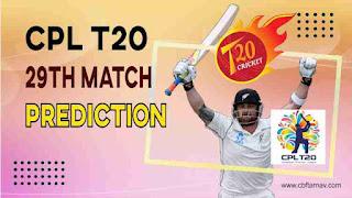 Barbados vs St Lucia CPL T20 28th Match 100% Sure Match Prediction CPL 2021