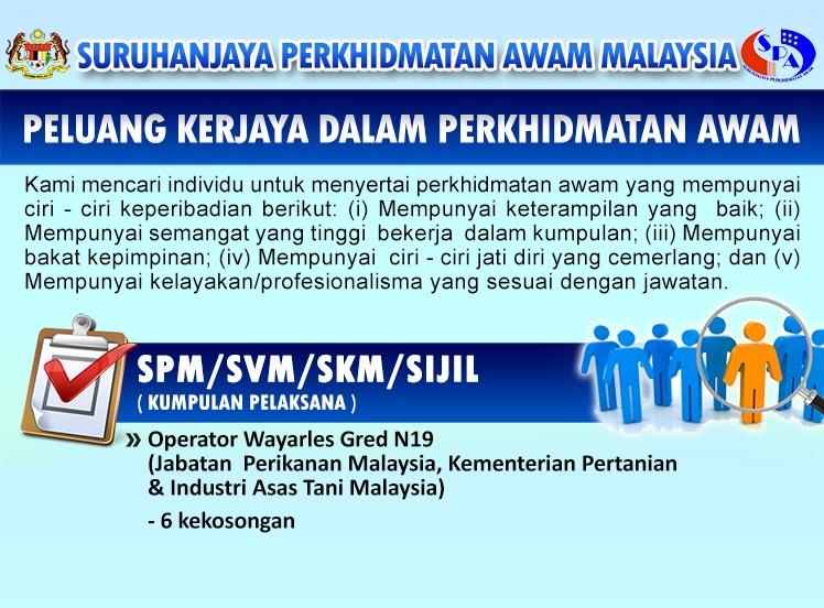 Jawatan Kosong Di Jabatan Perikanan Malaysia Pengambilan Terbuka 2017 Jobcari Com Jawatan Kosong Terkini