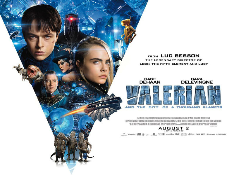 VALERIAN AND THE CITY OF A THOUSAND PLANETS uk poster
