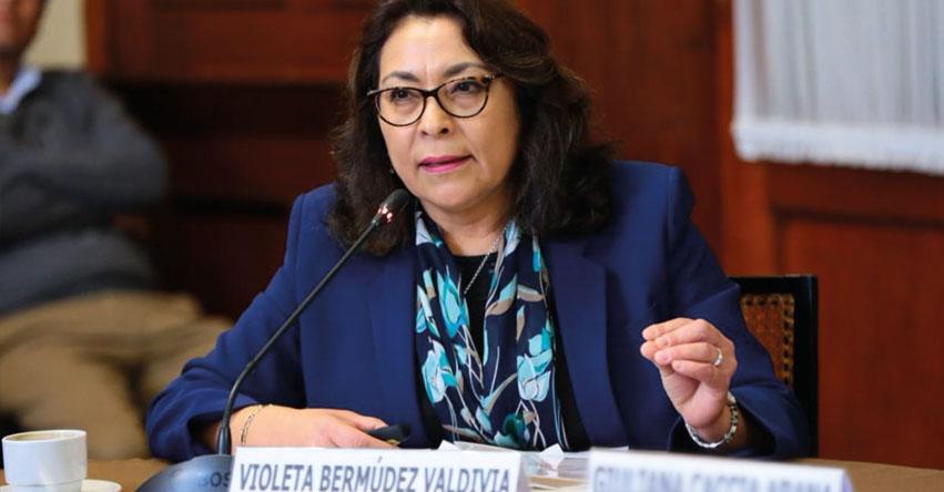 Violeta Bermúdez Valdivia asumirá la presidencia del Consejo de Ministros - PCM