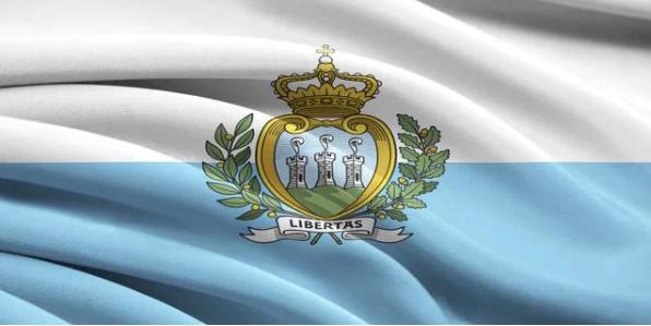 La bandera de San Marino