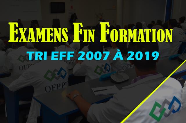 Examens de Fin de Formation TRI