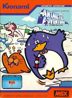 Portada videojuego Antartic Adventure