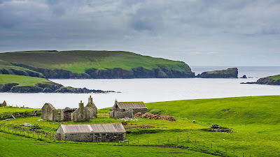 An old farm in the Shetland Islands, Scotland