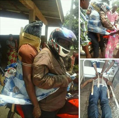 Dafuq? Check out how they carried some dead bodies in Uganda