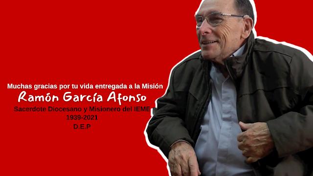 Fallece Ramón García Afonso, sacerdote diocesano y misionero del I.E.M.E