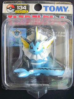 Vaporeon Pokemon figure Tomy Monster Collection black package series