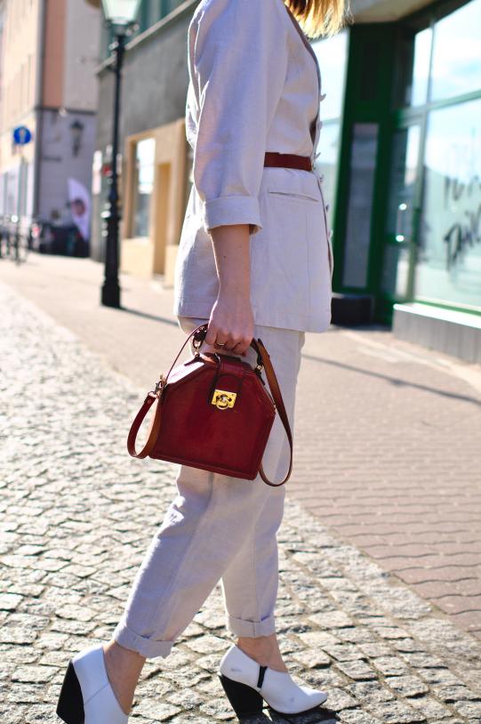 #linen #fabric #tkanina #spodnielen #lnianamarynarka #hat #streetstyle #hmshoes #linenpants