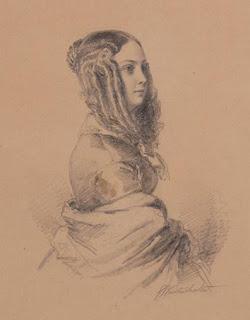 Franz-Xaver Winterhalter - Louise Colet - Vers 1840 - Versailles.