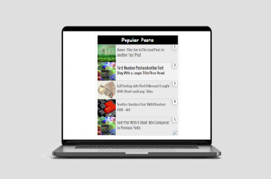 New Elegant Popular Posts Widget For blogger